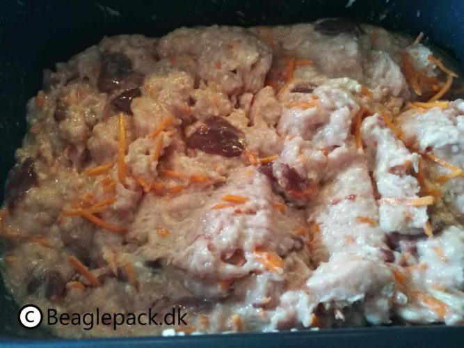 den første slow cook mad til beaglerne